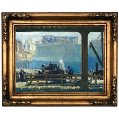'Blue Morning 1909' Framed Oil Painting Print on Canvas Format: Black/Gold Framed, Size: 16.5'' H x 20.5'' W x 1.75'' D