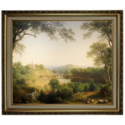 'Sunday Morning 1860' Framed Oil Painting Print on Canvas Format: Yellow Framed, Size: 24.15