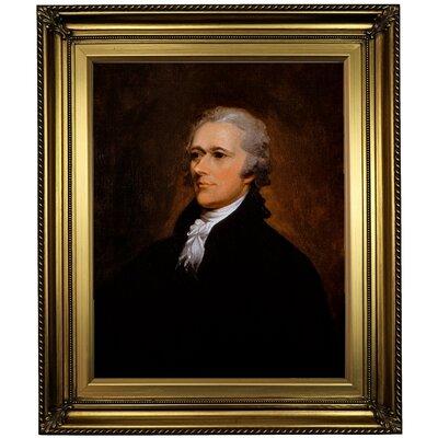 'Alexander Hamilton' Framed Print on Canvas Format: Gold Frame, Size: 26