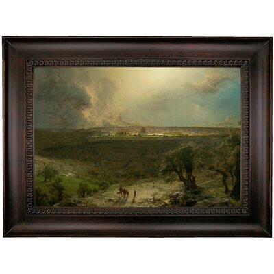 'Jerusalem from the Mount of Olives 1870 Church' Framed Oil Painting Print on Canvas Format: Charcoal Framed, Size: 26