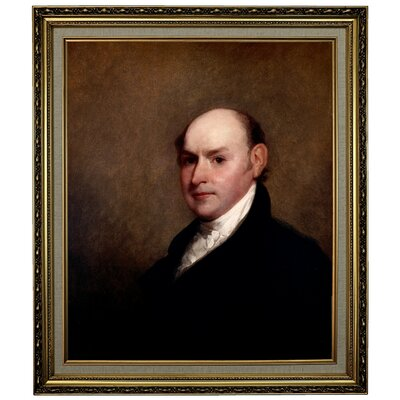'John Quincy Adams 1818' Framed Oil Painting Print on Canvas Format: Light Gold Framed, Size: 28.15