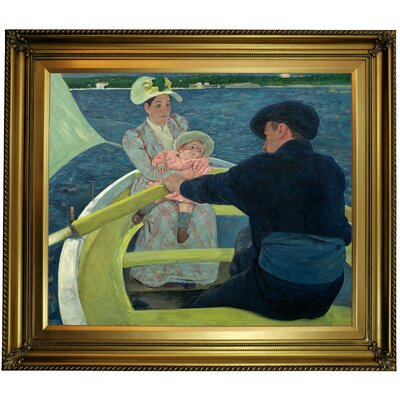 'The Boating Party' by Mary Cassatt Framed Oil Painting Print on Canvas Format: Gold Framed, Size: 26