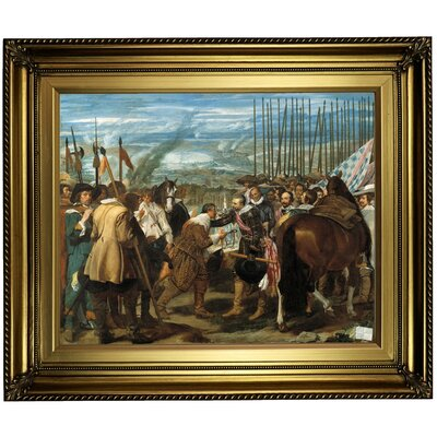 'The Surrender of Breda (The Lances)' Framed Oil Painting Print on Canvas Format: Light Gold Framed, Size: 22