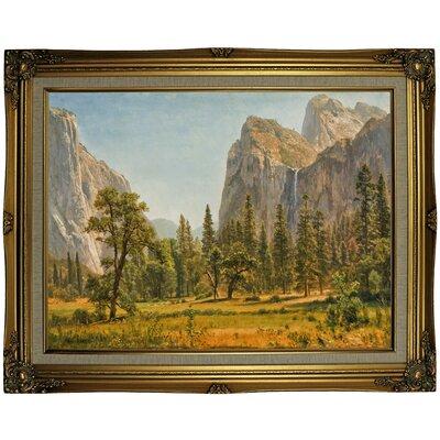 'Bridal Veil Falls, Yosemite Valley, California' Framed Oil Painting Print on Canvas