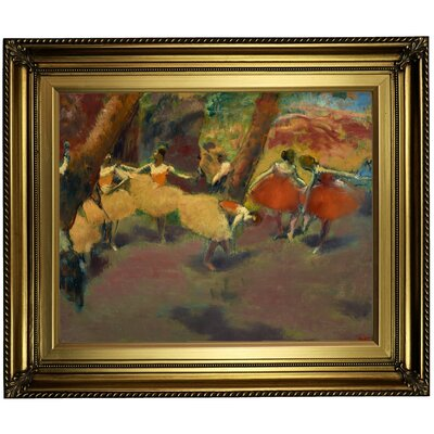 'Before the Performance 1896' by Edgar Degas Framed Print on Canvas Format: Gold Frame, Size: 22