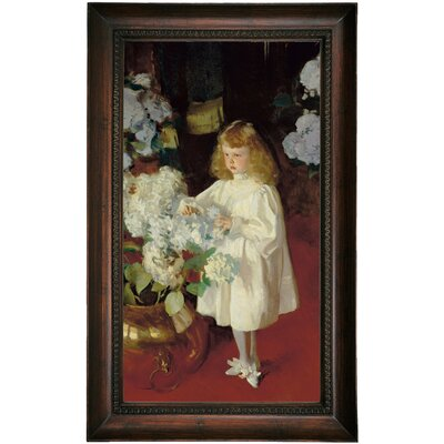 'Helen Sears 1895' by John Singer Sargent Framed Oil Painting Print on Canvas Format: Dark Brown Framed, Size: 25.5