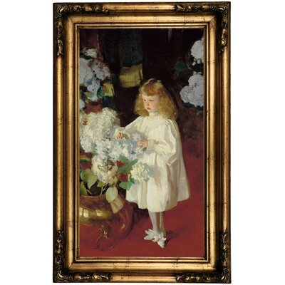 'Helen Sears 1895' by John Singer Sargent Framed Oil Painting Print on Canvas Format: Antique Gold Framed, Size: 26.5