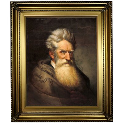 'John Brown 1872' Framed Oil Painting Print on Canvas Format: Gold Framed, Size: 26