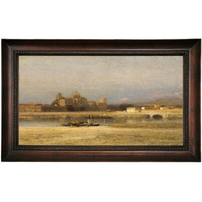 'On the Viga; Outskirts of the City of Mexico 1892' Framed Oil Painting Print on Canvas Format: Dark Brown Framed, Size: 15.5