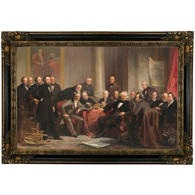 'Men of Progress 1862' Framed Oil Painting Print on Canvas Format: Chocolate Brown Framed, Size: 24.25