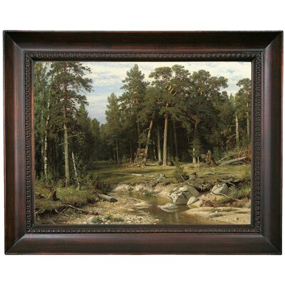 'Mast Pine Forest in Viatka Province 1895' Framed Oil Painting Print on Canvas Format: Chocolate Brown Framed, Size: 15.5