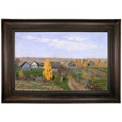 'Golden autumn Slobodka 1889' Framed Oil Painting Print on Canvas Format: Black Framed, Size: 24.25