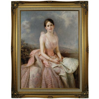 'Portrait of Juliette Gordon Low 1887' Framed Oil Painting Print on Canvas Format: Gold Framed, Size: 29.25