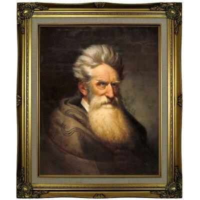 'John Brown 1872' Framed Oil Painting Print on Canvas Format: Antique Gold Framed, Size: 25.25