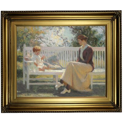 'Eleanor and Benny 1916' Framed Oil Painting Print on Canvas Format: Light Gold Framed, Size: 22