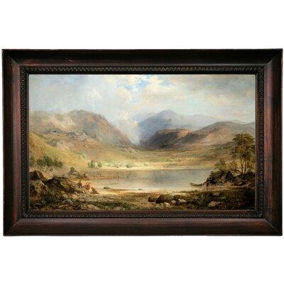 'Loch Long 1867' Framed Oil Painting Print on Canvas Format: Dark Brown Framed, Size: 15.5