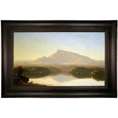 'Wilderness 1860' Framed Oil Painting Print on Canvas Format: Dark Black Framed, Size: 26