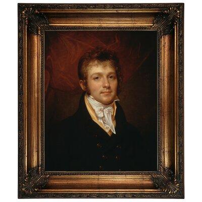 'Portrait of Edward Shippen Burd of Philadelphia 1806' Framed Oil Painting Print on Canvas Format: Dark Gold Framed, Size: 26.25