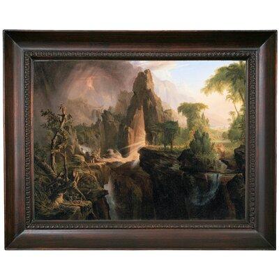 'Expulsion from the Garden of Eden 1828' Framed Oil Painting Print on Canvas Format: Dark Gray Framed, Size: 15.5