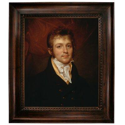 'Portrait of Edward Shippen Burd of Philadelphia 1806' Framed Oil Painting Print on Canvas Format: Dark Brown Framed, Size: 31