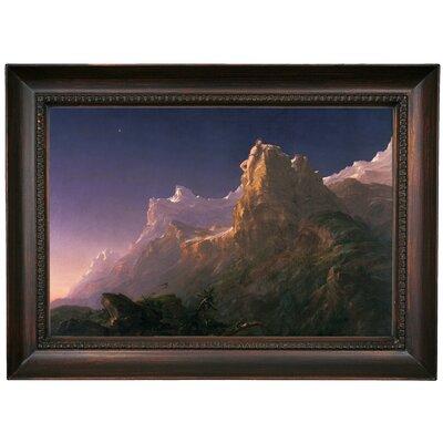 'Prometheus Bound 1847' Framed Oil Painting Print on Canvas Format: Dark Brown Framed, Size: 15.5