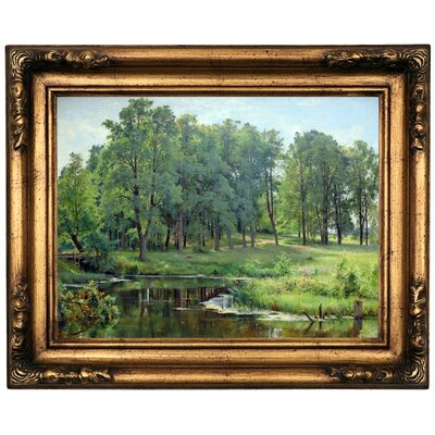 'In the Park 1897' Framed Oil Painting Print on Canvas Format: Old Gold Framed, Size: 16.5