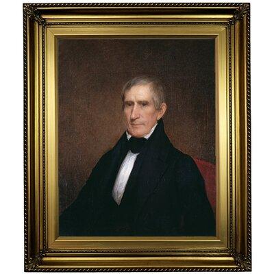 'William Henry Harrison 1840' Framed Oil Painting Print on Canvas Format: Light Gold Framed, Size: 26