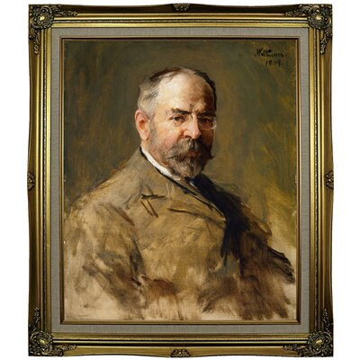 'John Philip Sousa 1909' Framed Oil Painting Print on Canvas Format: Gray/Gold Framed, Size: 29.25