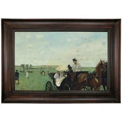 'At the Races in the Countryside 1869' by Edgar Degas Framed Print on Canvas Format: Brown Frame, Size: 15.5
