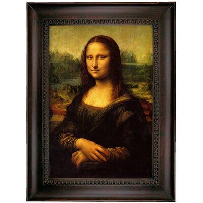 'Mona Lisa' by Leonardo da Vinci Framed Oil Painting Print on Canvas Format: Charcoal Framed, Size: 35