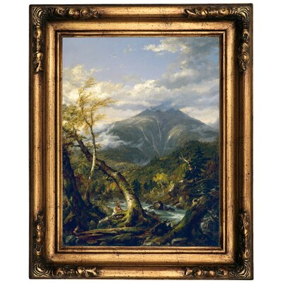 'Indian Pass 1847' Framed Oil Painting Print on Canvas Format: Old Gold Framed, Size: 20.5