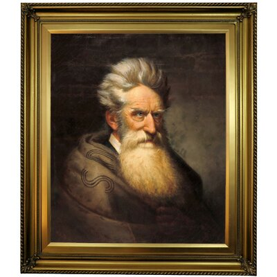 'John Brown 1872' Framed Oil Painting Print on Canvas Format: Yellow Framed, Size: 30