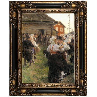 'Midsummer Dance 1897' Framed Oil Painting Print on Canvas Format: Peru Framed, Size: 21.25