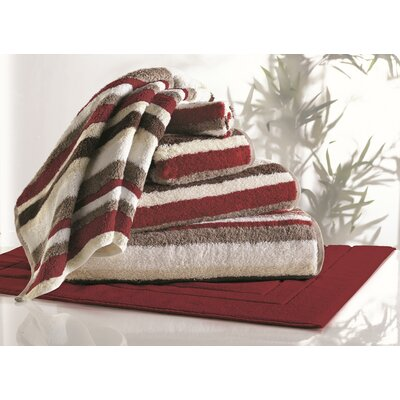 Striped Rayon from Bamboo 6 Piece Towel Set Color: Bordeaux