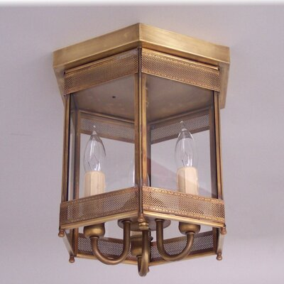 2000 Series 3-Light Flush Mount Finish: Antique Brass