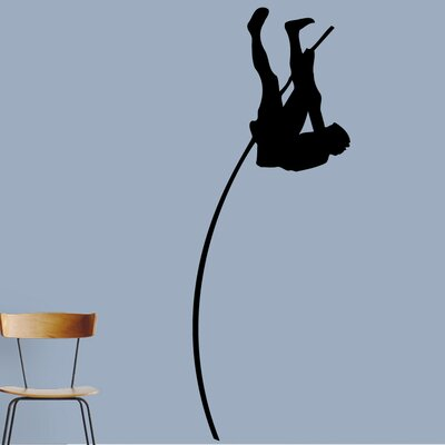 Pole Vaulter Wall Decal Color: Black 1593Black