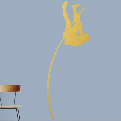 Pole Vaulter Wall Decal Color: Gold 1593Gold