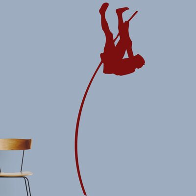 Pole Vaulter Wall Decal Color: Cranberry 1593Cranberry