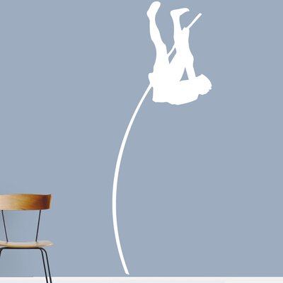 Pole Vaulter Wall Decal Color: White 1593White