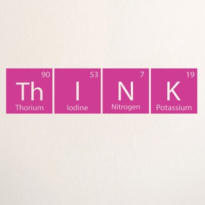 Think Periodic Table Wall Decal Color: Hot Pink