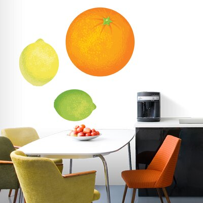 Orange, Lemon, Lime Printed Wall Decal Size: Large 2031L