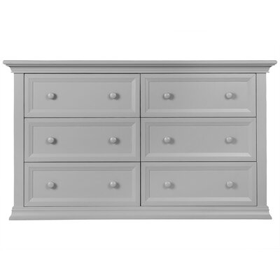 Napoli 6 Drawer Double Dresser Finish: Dove Gray