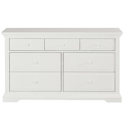 Parker 7 Drawer Double Dresser Finish: Winter White