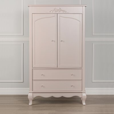 Aurora Armoire Color: Blush Pink Pearl