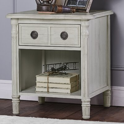 Julienne 1 Drawer Nightstand Color: Antique Grey Mist