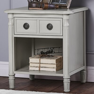 Julienne 1 Drawer Nightstand Finish: French Linen
