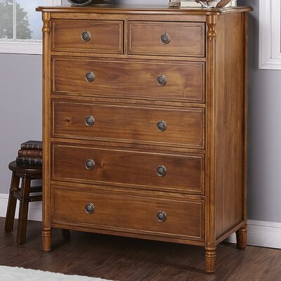 Julienne 6 Drawer Standard Chest Finish: Weather Natural