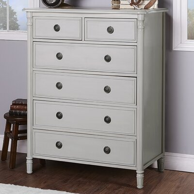 Julienne 6 Drawer Standard Chest Finish: French Linen