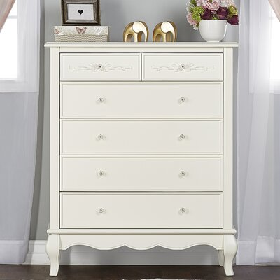 Aurora Tall 5 Drawer Chest Finish: Ivory Lace