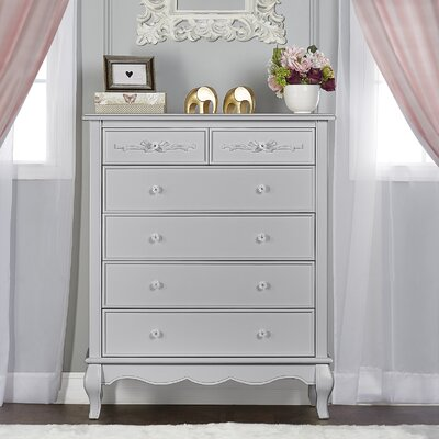 Aurora Tall 5 Drawer Chest Finish: Akoya Gray Pearl